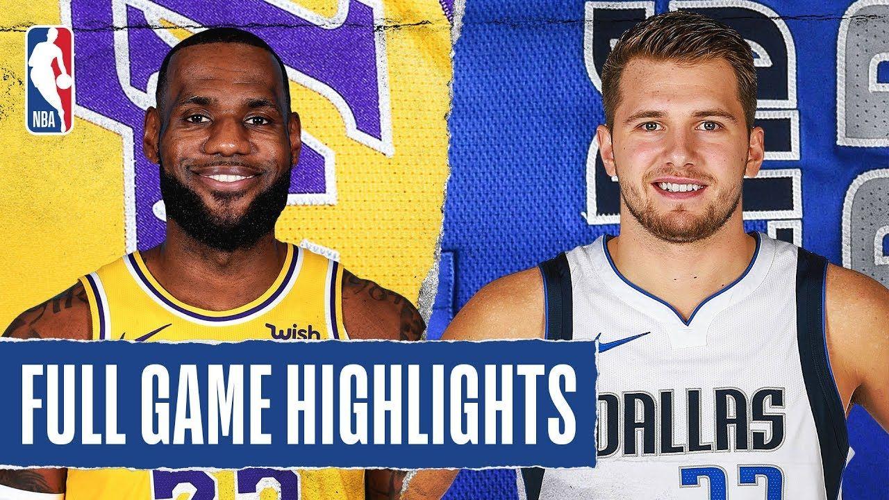 Lakers At Mavericks Full Game Highlights January 10 2020 Youtube In 2020 Lakers Full Games Nba