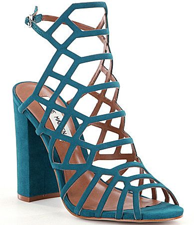 Steve Madden Skales Caged Block Heel Dress Sandals #Dillards