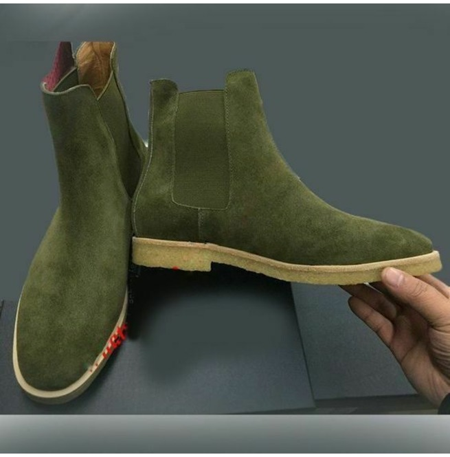 Suede leather boots, Mens boots fashion