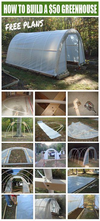 Un modèle de serre en tubes de PVC et polyane à faire cet automne - faire un plan de maison facilement