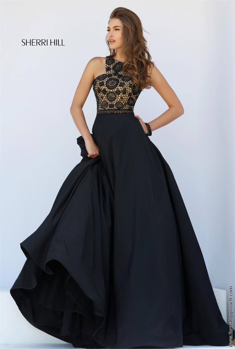 Black Sherri Hill Prom Dresses