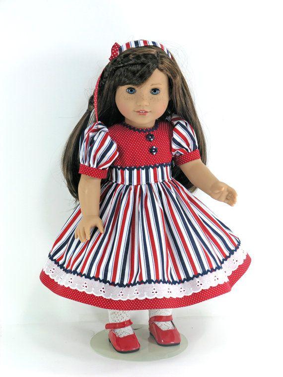 Doll Clothes Fit American Girl Patriotic Doll Dress | vestidos d ...