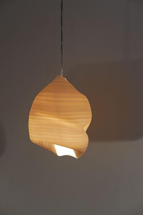 Luz pendiente, porcelana lanzado