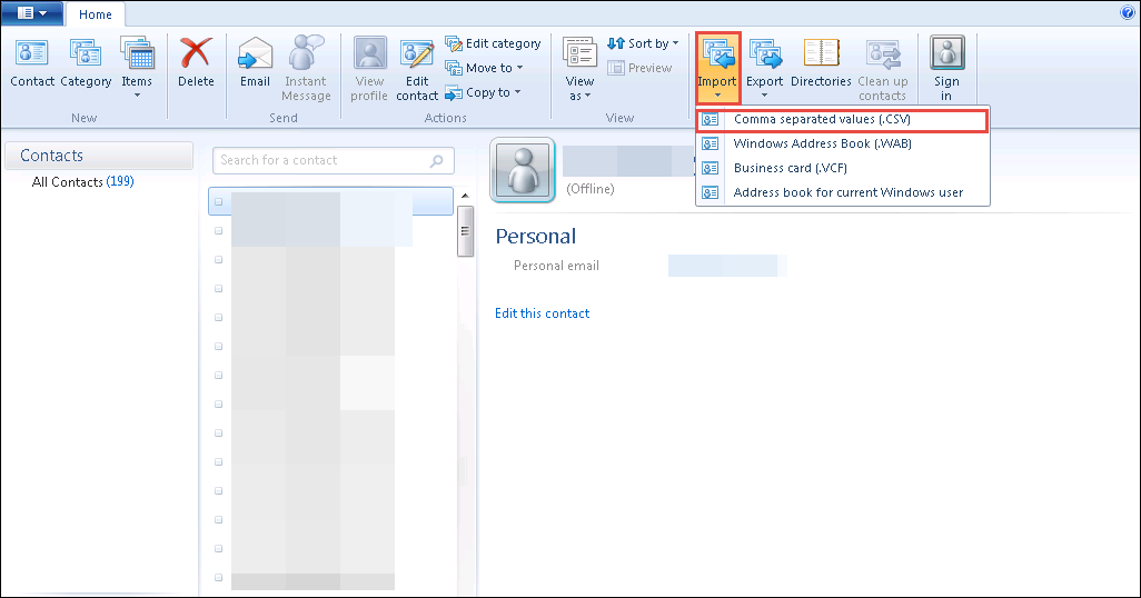 How to Import Contacts From Thunderbird to Windows Live Mail