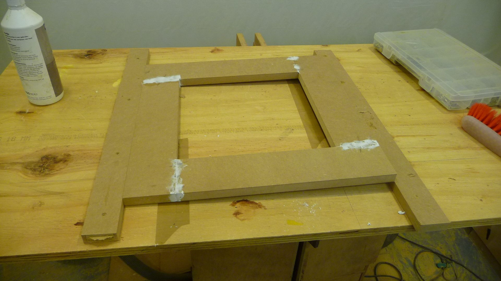 "Jigs to help me sand and work on the frames. these parts also helped me glue up and keep the frame ""Square""..!"