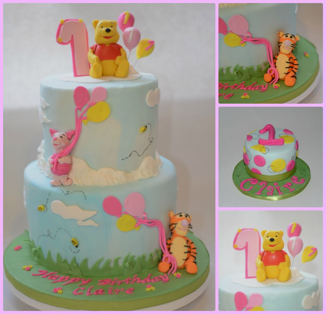 Winnie The Pooh 1st Birthday Cake And Smash