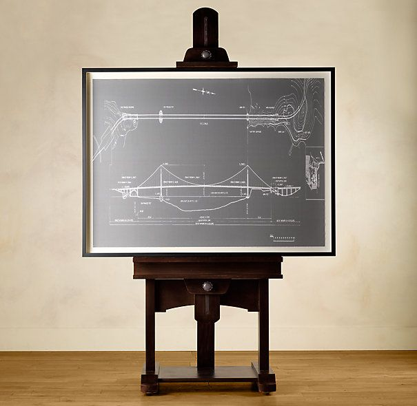Adjustable height easel (works for a flatscreen TV - has wire ...