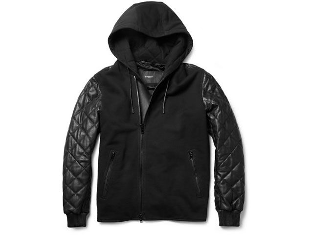 Givenchy Contrast-Front Quilted Leather Bomber Jacket. | Leather ...