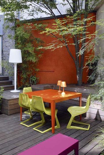 Photo terrasse  40 terrasses comme des petits coins de paradis - Peindre Une Terrasse En Beton