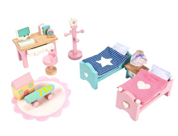 Master Bedroom Set Le Toy Van Wooden Dolls House Furniture Sugar Plum