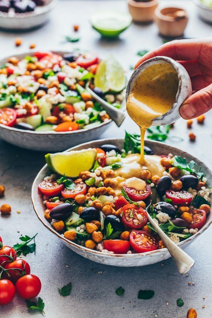 Mediterraner Kichererbsen Salat | Einfach, Vegan - Bianca Zapatka | Rezepte