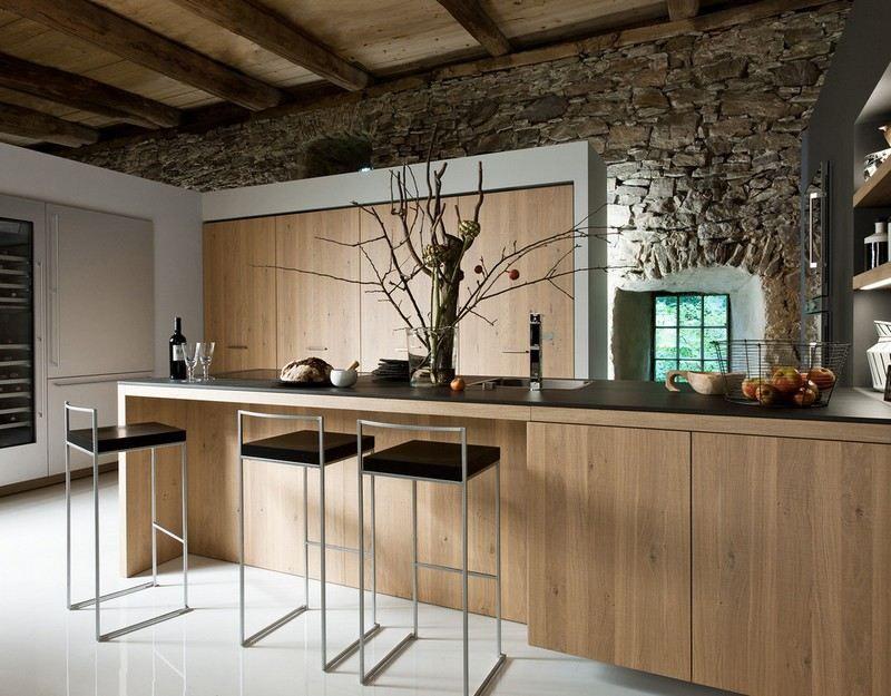 Cuisine Rustique Contemporaine Idées De Meubles En Bois - Armony cuisine colmar