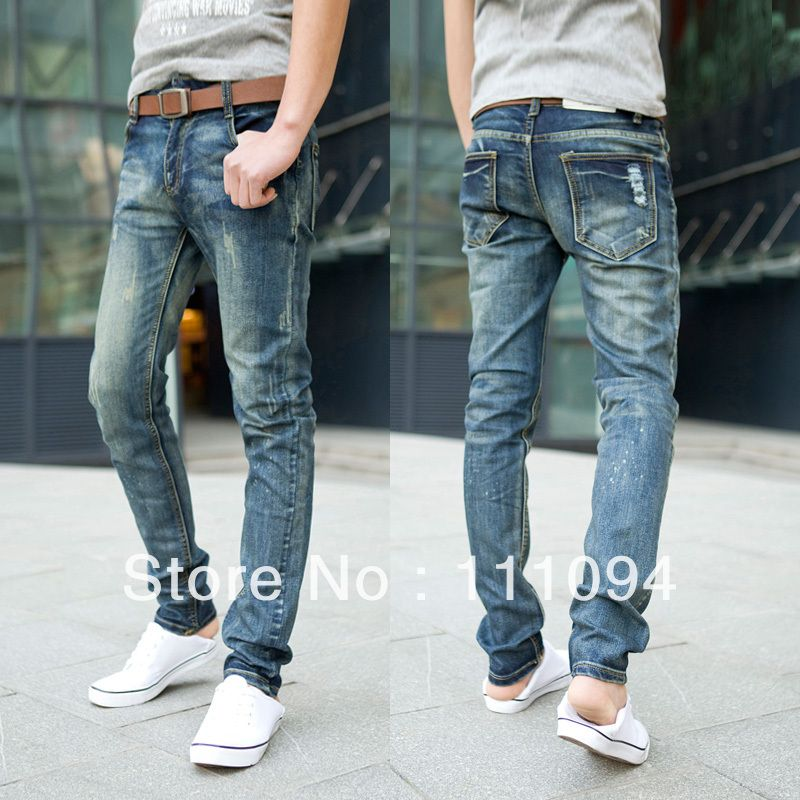 2013 fashionmans jeans summer light color men jeans slim water ...