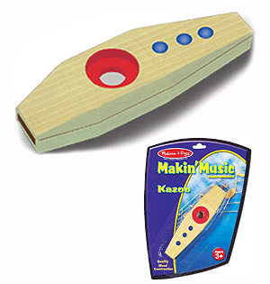 Childrens Wooden Kazoo Toy, Melissa and Doug