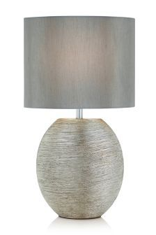 Table lamps bedside table lights next official site lit up buy ceramic scratch silver large table lamp from the next uk online shop aloadofball Image collections