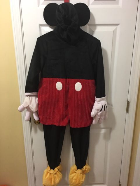 Disney Store 7/8 Mickey Mouse Plush Costume Full Suit Rare HTF Halloween | eBay & Disney Store 7/8 Mickey Mouse Plush Costume Full Suit Rare HTF ...