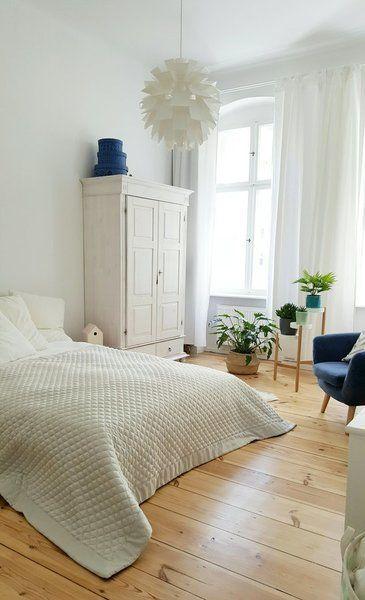 Für Ein Gemütliches Schlafzimmer | SoLebIch.de #design #einrichtung  #interior #dekoration #decoration #schlafzimmer #weiß Foto: Pixi87