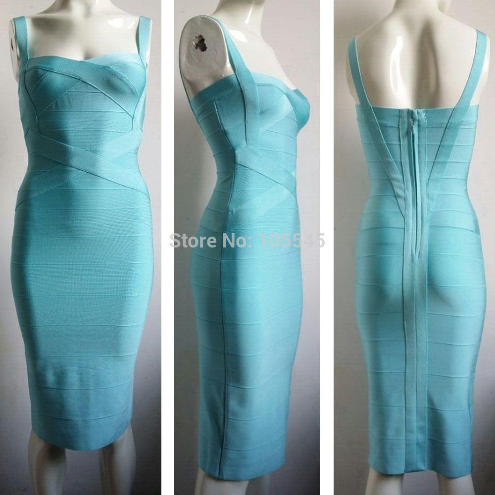 new baby blue strap women fashion sexy elegant bandage party