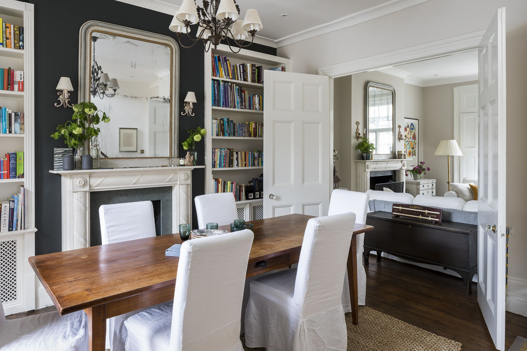 Interior Design By Imperfect Interiors At This Georgian Terraced House In London A Palette Of Calm Farrow Townhouse Interior Living Dining Room House Interior