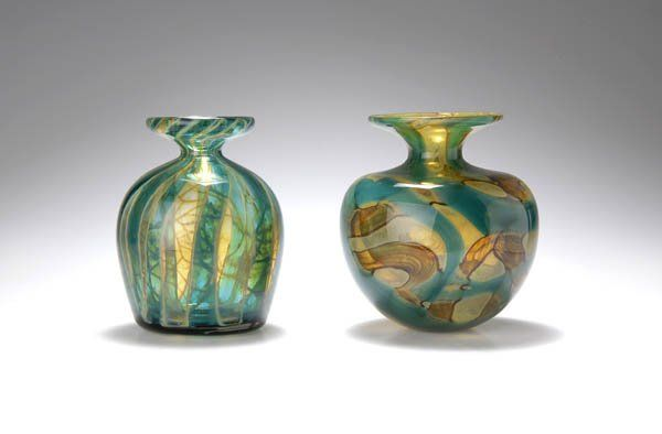 344 Mdina Glass Ta Qali Malta Vase 1987 On Mdina Art Glass