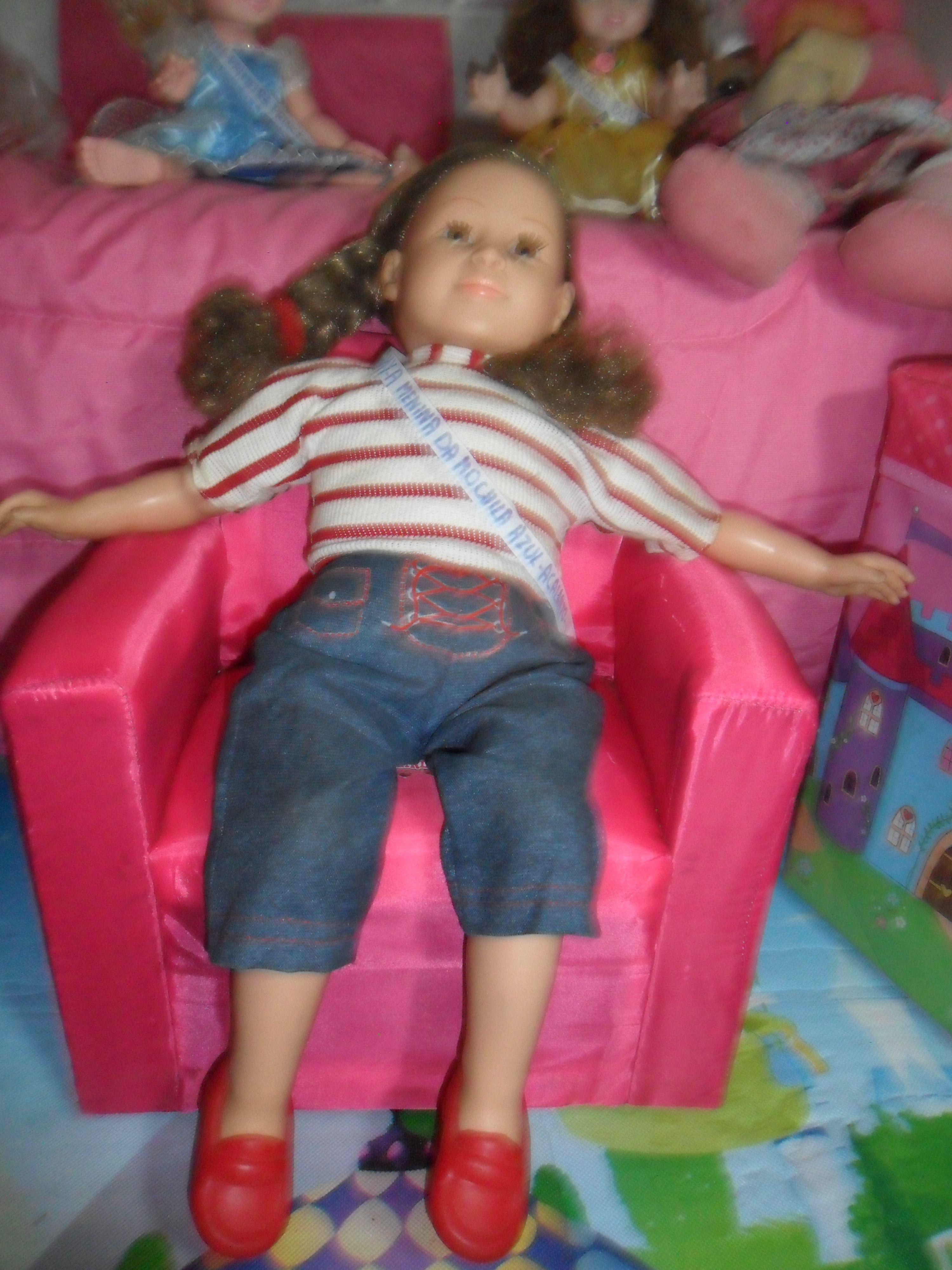 Amy A Mochila Azul boneca amy a menina da mochila azul, da baby brink. 52 cm