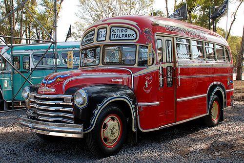 Colectivo Chevrolet 1947 Lineas De Autobuses Transporte Urbano Colectivos
