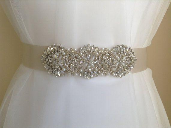 Crystal Bridal Sash-Rhinestone Wedding Belt-Bridal Sash-Wedding Dress Belt on Etsy, £49.00