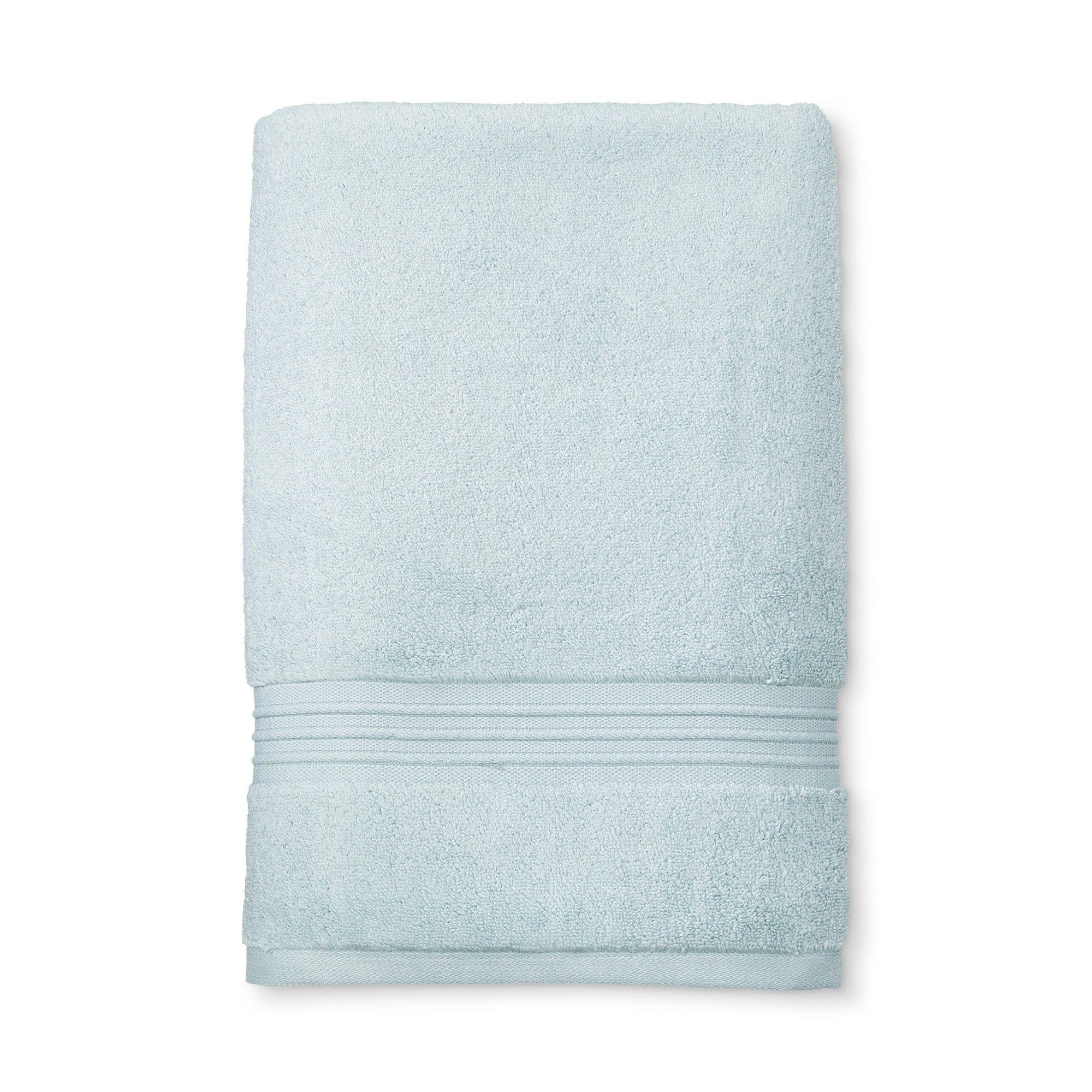 Spa Stripe Bath Sheet Light Blue Fieldcrest In 2019 Bath