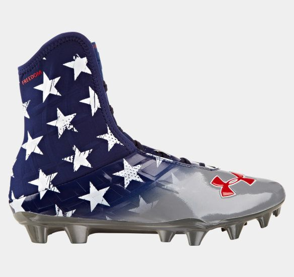 under armour floral football cleats