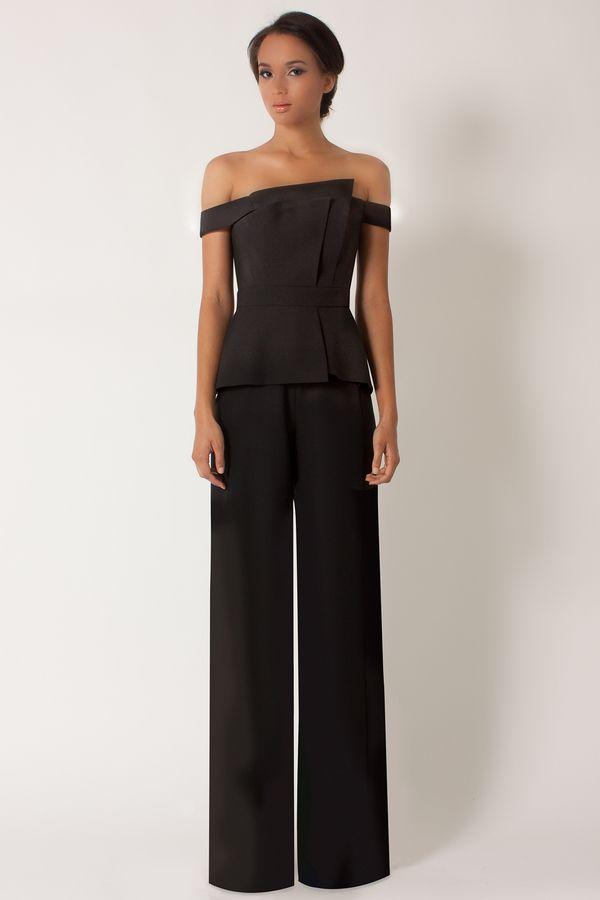 52a8065f La Reina Jumpsuit Black Jumpsuit Outfit, Peplum Dress, Signature Style,  Kendall Jenner,
