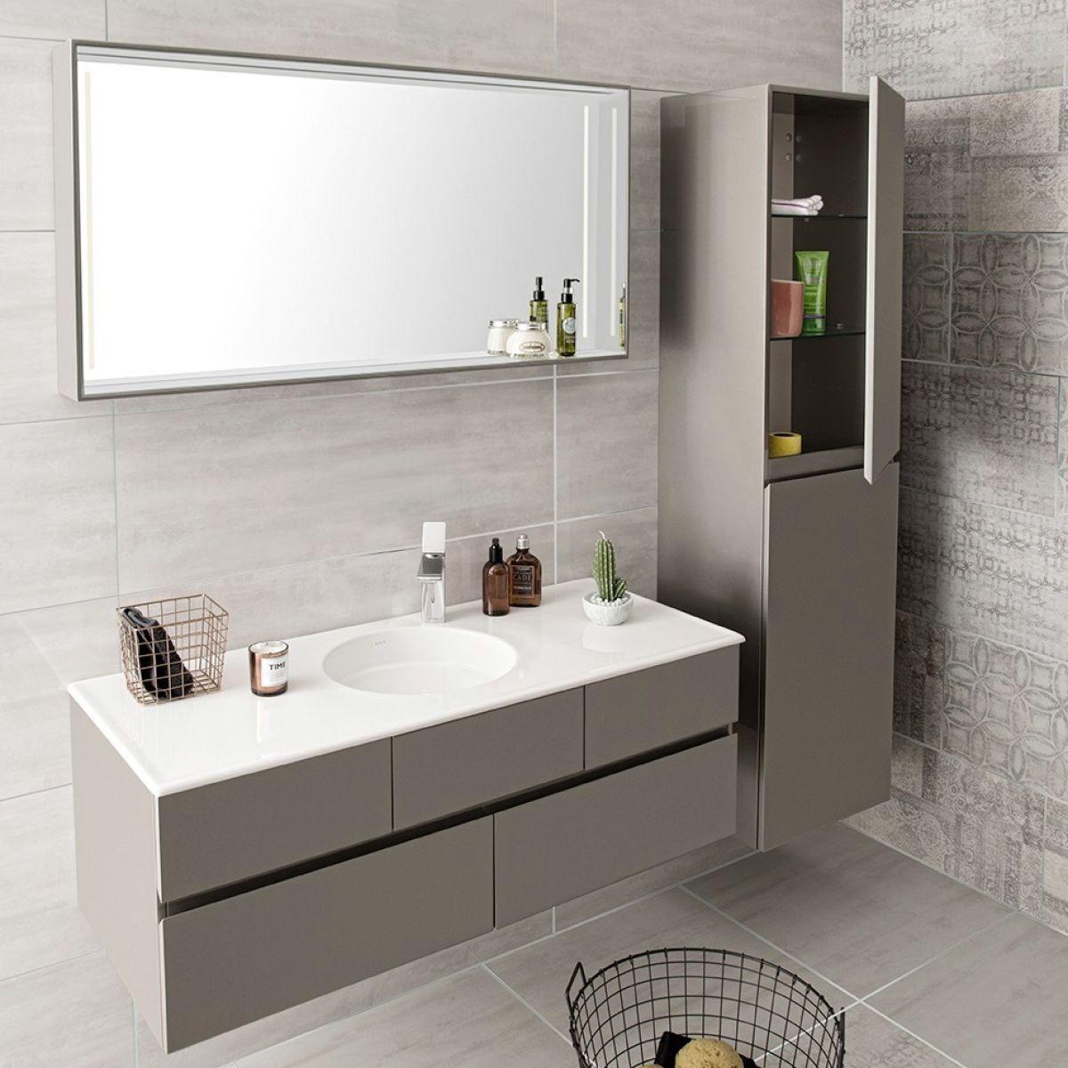 Vitra Memoria 1200mm Vanity With Circular Bowl Bathroom Interior Design Bathroom Interior Modern White Bathroom