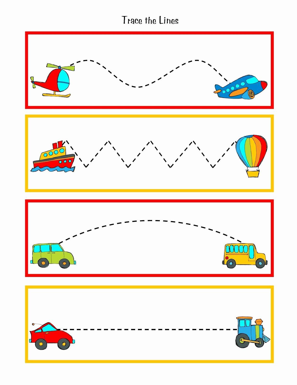 Transportation Worksheets For Preschool In