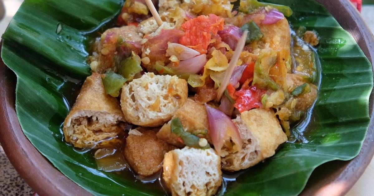 Resep Tahu Gejrot Oleh Susi Agung Resep Resep Tahu Makan Malam Resep Masakan