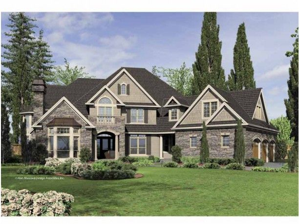 Lovely New American House Plan With 6020 Square Feet And 5 Bedrooms(s) From Dream  Home Source | House Plan Code DHSW65879 Great Pictures