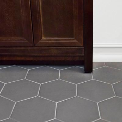 Merola Tile Hexatile Matte Gris 7 In X 8 Porcelain Floor And Wall 2 Sq Ft Pack Feq8hmg The Home Depot