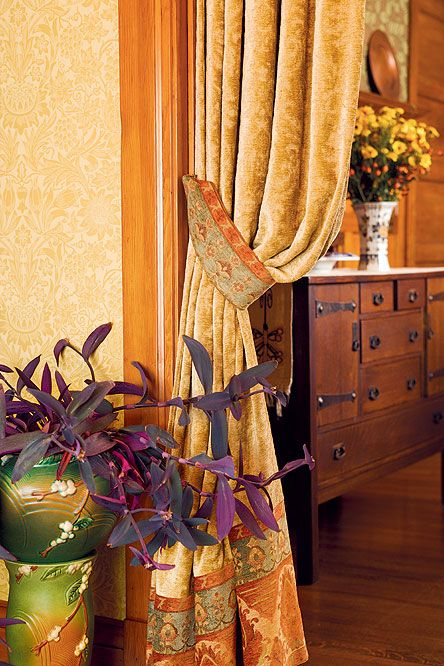 Attirant Victorian Doorway Curtains | Chenille And Damask Portieres In A Tacoma  (Wash.) Home Divide Dining .