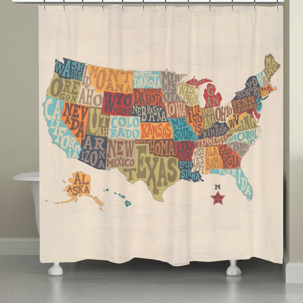 Product Image For Laural HomeR States Collage Shower Curtain