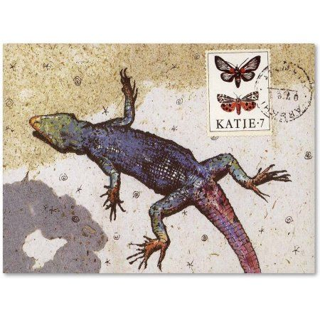 Trademark Fine Art 'Rainbow Lizard' Canvas Art by Nick Bantock, Size: 14 x 19, Assorted