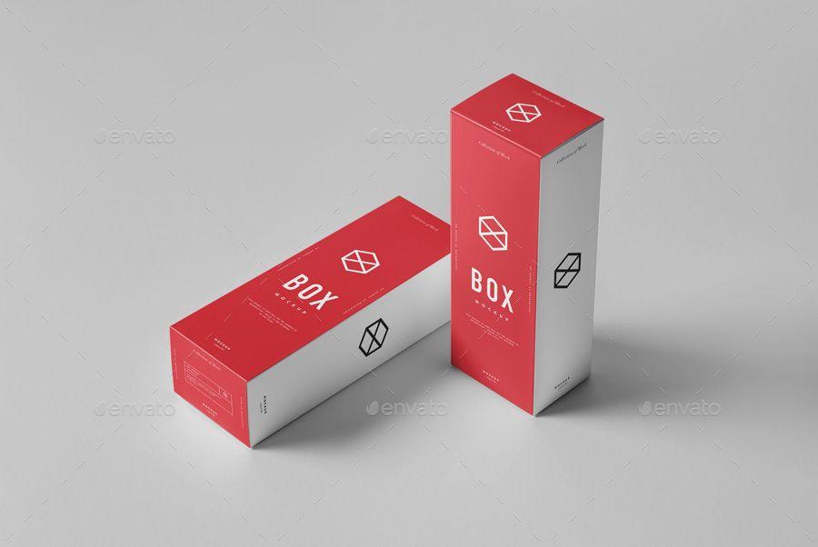 Download Box Mock-up 4 | Box packaging design, Box mockup ...