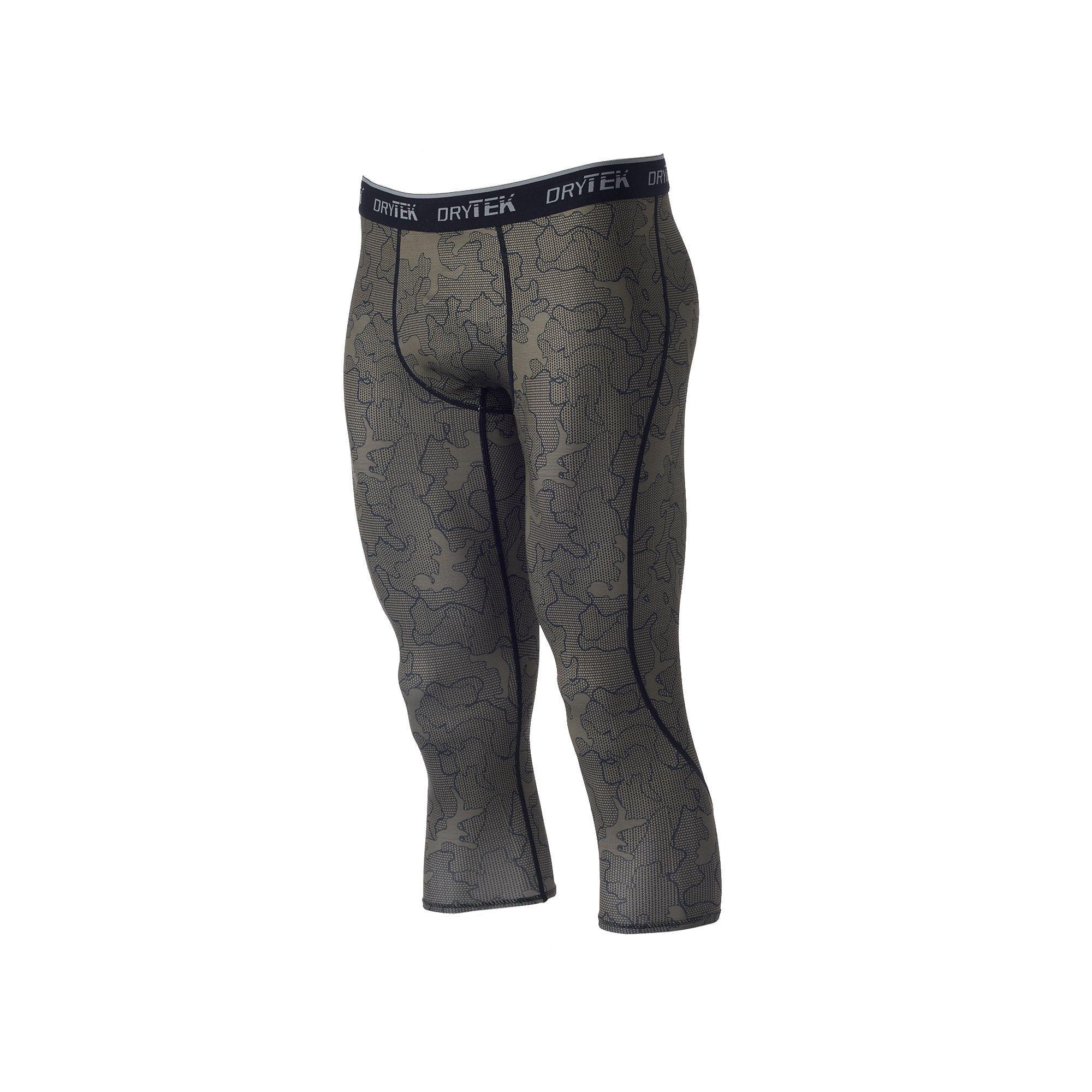 Men's Tek Gear® DRY TEK Baselayer 3/4 Pants, Size: XXL, Med Green