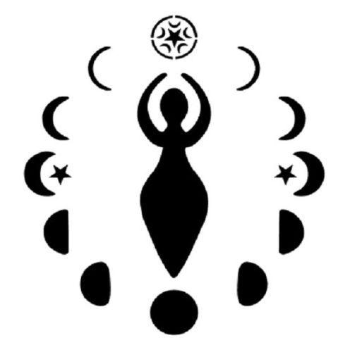 Wiccan Goddess Stencil