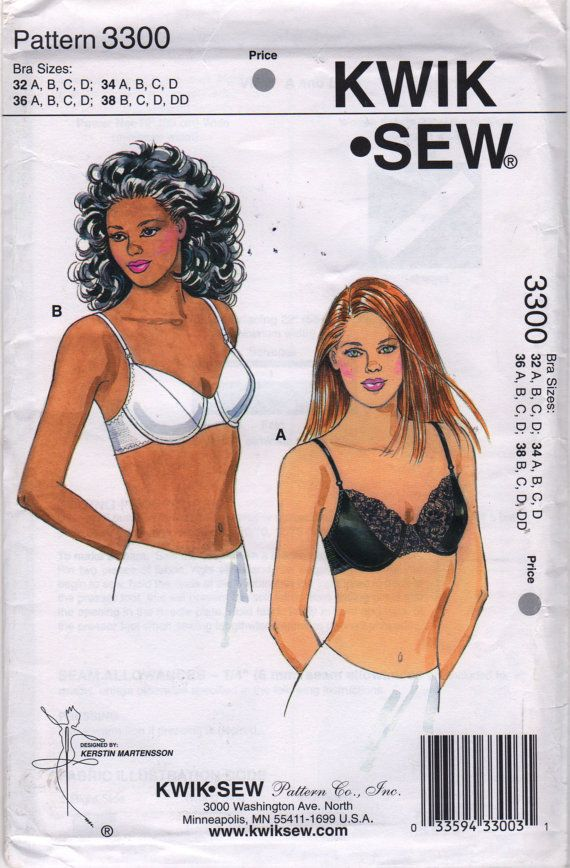 01c6172a4 Kwik Sew 3300 Misses UNDERWIRE BRA Pattern Lace LINGERiE womens sewing  pattern by mbchills