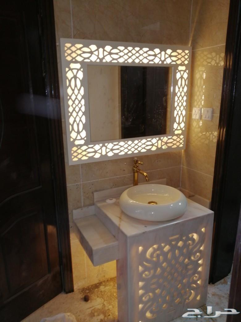 مغاسل رخام ومغاسل ديكور In 2020 Lighted Bathroom Mirror Bathroom Mirror Bathroom Lighting