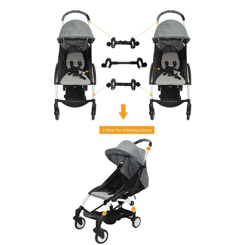 3pcs Baby Stroller Connectors for Twins Babies Stroller Pushchair Connectors