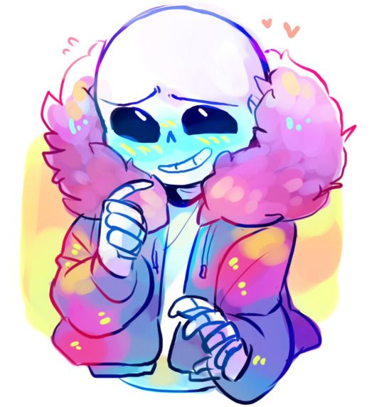 LOOK AT THIS BLUSHING CUTIE! UGH! *rolls into hell* Sans from Undertale.