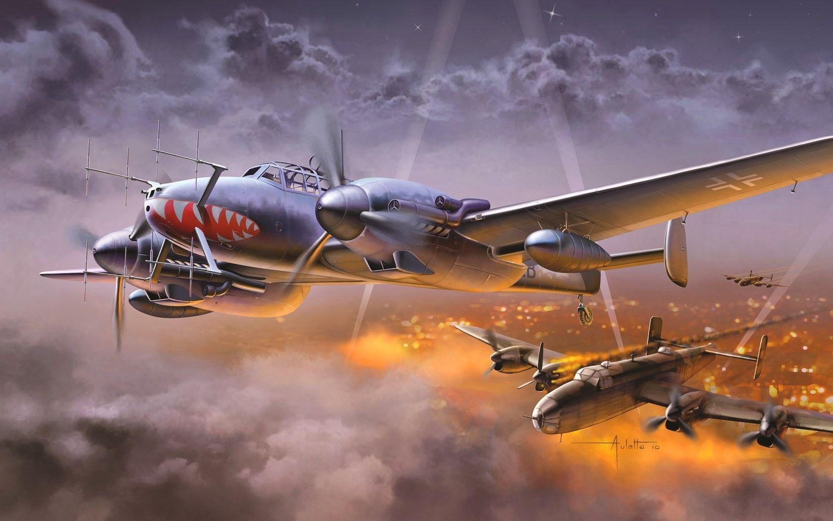 110 Wallpapers 2: Messerschmitt Bf 110G-4 Nachtjäger By Vincenzo Auletta