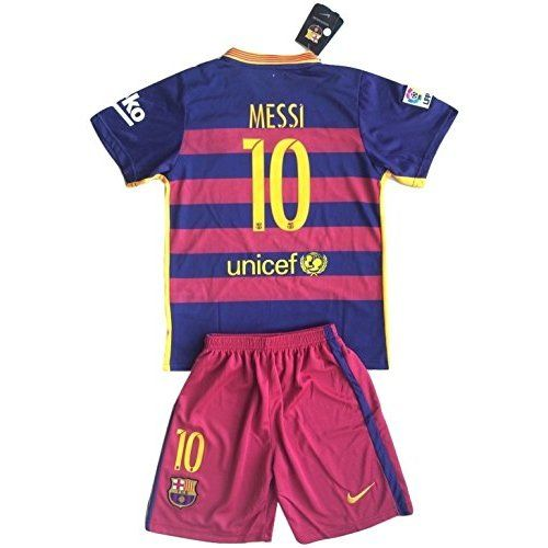 Argentina Messi  10 Home Kids Soccer Jersey All Youth Sizes Ages (12-13y  Gift set with Lanyard+Keychain+Stickers) dfb002829