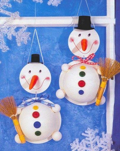 Bonhomme de neige avec cd no l loisirs cr atifs et bricolage pour enfants pinterest - Pinterest bonhomme de neige ...