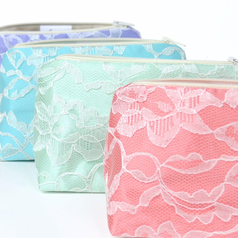 Six Bridesmaid Gifts: Lace Cosmetic Bags, Bulk Order Pricing, Custom ...