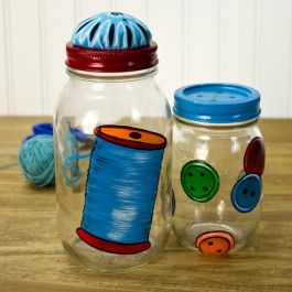 DecoArt® Sewing Storage Jars